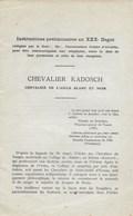 Franc-Maçonnerie. Francs-Maçons. Chevalier Kadosch - Chevalier De L'aigle Blanc Et Noir - Esotérisme