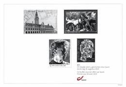 Belgium 2019 Black And White Sheetlet BPost 26-Aug-2019 Leuven Library Diversity Head Painter Bruegel Rinus Van De Velde - Foglietti Bianchi & Neri