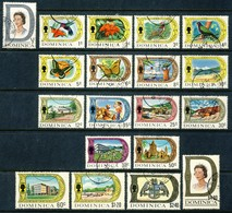 """1969 Dominica Beautiful Complete VF Used Set Of 19 Stamps """" Local Produce, Flora & Fauna Etc."""" Scott 268-286 - Dominique (1978-...)"""