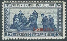 1926 SOMALIA SAN FRANCESCO 1,25 LIRE MH * - UR35-4 - Somalia