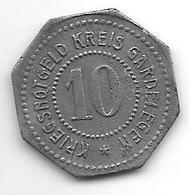 *notgeld  Gardelegen 10 Pfennig ND Zn   4666.4 / F  151.3 - [ 2] 1871-1918 : Empire Allemand