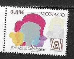 MONACO, 2019, MNH, ZONTA , WOMEN EMPOWERMENT, 1v - Hotels, Restaurants & Cafés