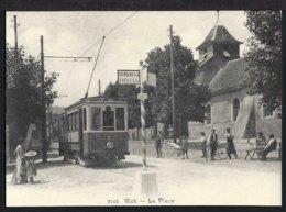 Vich - La Place - Tram - Belebt - Schweiz
