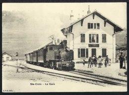 Ste- Croix - La Gare - Bahnhof - Dampflock - Schweiz