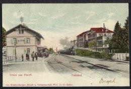 Flawil Bahnhof - La  Gare - Dampflok - 1905 - SG St. Gallen