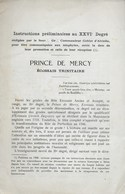 Franc-Maçonnerie. Francs-Maçons. Prince De Mercy. Ecossais Trinitaire - Esotérisme
