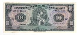 Ecuador, 10 Sucres 1966.  AUNC. - Ecuador