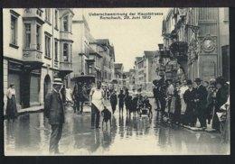 Rorschach - Hochwasser - Kutsche - Belebt - Hauptstrasse - 1910 - SG St. Gallen