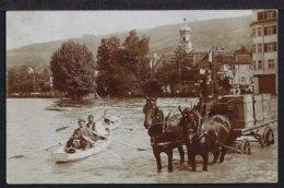 Rorschach - Hochwasser - Fuhrwerk  Und Ruderboot - 1910 - SG St. Gallen