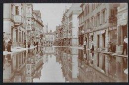 Rorschach - Hochwasser - Haupstrasse - Spiegelung - Belebt - 1910 - SG St. Gallen