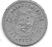 *notgeld  Garmisch 10 Pfennig 1917 Zn   4675.3 /  F 152.2 - [ 2] 1871-1918 : Empire Allemand