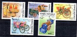 EDY626 - SOMALIA 1997, Cinque Valori Usati Tematica AUTOMOBILI  (2380A) - Automobili