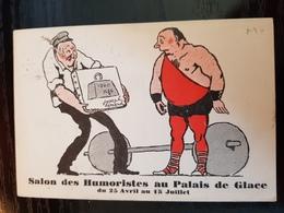 CPA Salon Des Humoristes - Haltères - Weightlifting
