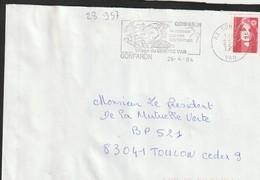 FLAMME PERMANENTE  83  GONFARON - Marcophilie (Lettres)