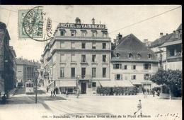 Zwitserland Schweiz Suisse - Neuchatel - Place Numa Droz - 1907 - Switzerland