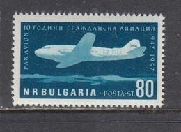 Bulgaria 1957 - 10 Years Of Civil Aviation In Bulgaria, Mi-Nr. 1027, MNH** - 1945-59 People's Republic