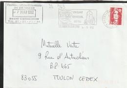 FLAMME PERMANENTE  34  CESSENON SUR ORB - Marcophilie (Lettres)