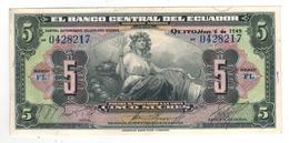 Ecuador, 5 Sucres 1949.  XF/aUNC. - Ecuador