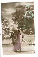 CPA-Carte Postale - FRANCE -Bonne Année- Une Fiancée Pense à Son Amoureux Soldat En 1915 VM5917 - Nieuwjaar