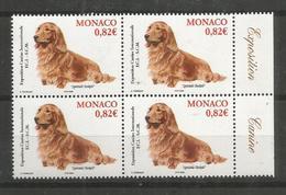 4x MONACO - MNH - Animals - Dogs - Dogs