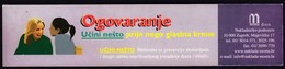 Croatia / Bookmark / Bookmarks / Bookmarker / Library For The Prevention Of Abuse / Gossip - Bookmarks