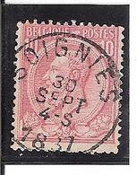 Belgique N° 46 Soignies - 1893-1900 Fine Barbe