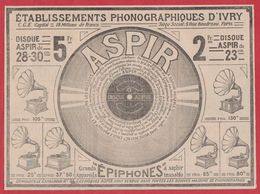 Etablissements Phonographiques D Ivry. Phonographe, Disque Aspir. 1909. - Publicidad