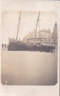 Fotokaart Carte Photo Le Bon Bd Van Iseghem Ostende Ostende 1913 Aangespoelde Boot Kursaal - Oostende