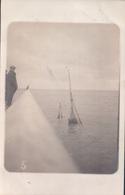 Fotokaart Carte Photo Le Bon Bd Van Iseghem Ostende Ostende 1913 Gezonken Boot - Oostende