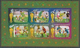Libya 1986 Football Soccer World Cup, Space Sheetlet MNH - Fußball-Weltmeisterschaft
