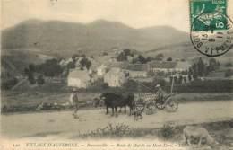63 , Agriculture , Attelage Boeufs Ou Vaches  , * CF 369 65 - Auvergne Types D'Auvergne
