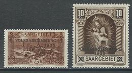 Saargebiet Mi 193, 194, Yv 187, 188  *  MH - 1920-35 Société Des Nations
