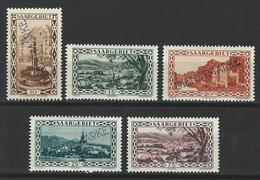 Saargebiet Mi D22-25, 30, Yv 16-19, 24  *  MH - Dienstmarken