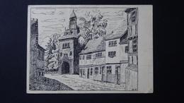 Germany - Mühlhausen/Thüringen - Frauentor - Künstlerkarte - Um 1945 - Look Scans - Muehlhausen