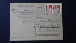 Germany - American And British Occupation Zones - 1948 - Mi:DE 74 On Postcard - Look Scans - Bizone