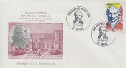 Enveloppe  FDC  1er  Jour   FRANCE   Gaspard   MONGE    BEAUNE   1990 - 1990-1999