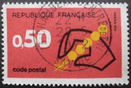 France N°1720 CODE POSTAL Oblitéré - Zipcode