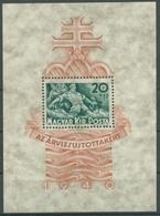 Ungarn 1940 Hilfe Für Die Hochwassergeschädigten Block 7 Postfrisch (C92360) - Hojas Bloque