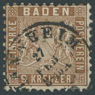 1862, 9 Kr. Hellrötlichbraun, Pracht, Mi. 100.- -> Automatically Generated Translation: 1862, 9 Kr. Lightreddish-brown,  - Baden