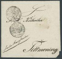 1836, Fuhrmannsbrief Aus HAFNERZELL, Mit 2 Zollstempeln Nach Tittmoning, Pracht -> Automatically Generated Translation:  - Germany