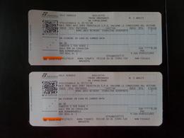 TRENITALIA - 2 Biglietto  Treno Ordinario - Metro