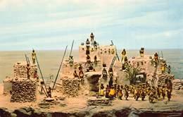 HOPI INDIAN VILLAGE Circa 1900 DIORAMA~BOSTON MA~MUSEUM OF SCIENCE POSTCARD 41478 - Indianer