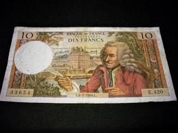 "FRANCE 10 Francs 04/07/1968 ""voltaire"", Pick N° 147 C ,fayette N°62 (33), FRANCIA ,FRANKREICH , - 1962-1997 ''Francs''"