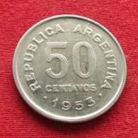 Argentina 50 Centavos 1953 KM# 49  Argentine - Argentine