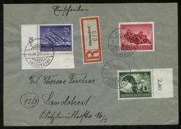 WW II R - Briefumschlag Mit Wehrmacht II Militär Sonderbriefmarken 1 X Oberrand , 1x Eckrand : Gebraucht Oberaudorf - - Briefe U. Dokumente