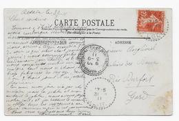 Alg13 Semeuse N°138 Sur CP Desaix (FB 84) Algérie (1911) - Marcophilie (Lettres)