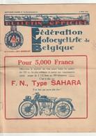 Fédération Motocycliste De Belgique 1928 - Moto F.N Type Sahara - Départ Lancé à Oostmalle - 20 Pages -lire Description - Livres, BD, Revues