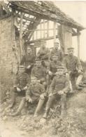 CARTE PHOTO SOLDATS ALLEMANDS - Guerre 1914-18