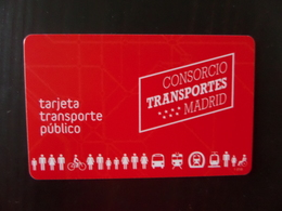 Tarjeta Transporte Público - Consorcio Transportes MADRID - Tranvías