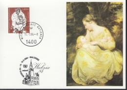 UNO WIEN  UNICEF-Kunstkarte Nr 28, Joshua Reynolds, Zur WABRIA '84, Walsrode 14.9.1984 - Lettres & Documents